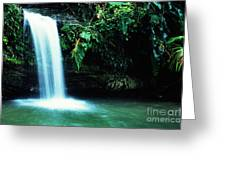 Quebrada Juan Diego Waterfall Greeting Card