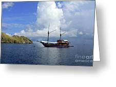 Silent Diving Bay On The Coast Of Sulawesi Greeting Card