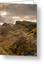 Quiraing Skye Greeting Card