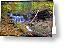 R B Ricketts Falls In Autumn Greeting Card