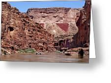 Rafting The Colorado Greeting Card