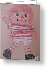 Rag Doll Greeting Card