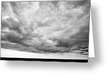 Rain Clouds And Weather Front Move Over Ring Road Hringvegur Across The Skeidararsandur Sand Greeting Card