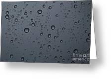 Rain On A Window Greeting Card