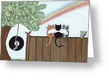 Rainbow Bridge Cats Greeting Card