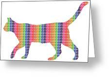Rainbow Cat Greeting Card