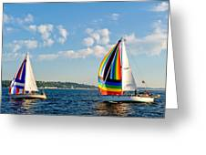 Rainbow Sails Greeting Card