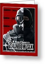 Rainbow Six Greeting Card