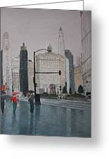 Rainy Day Chicago Greeting Card