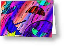 Rainy Day Love Greeting Card