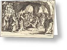 Raising Of Lazarus Greeting Card