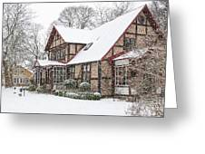 Ramlosa Brunnspark House In Winter Greeting Card