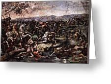 Raphael The Battle At Pons Milvius  Greeting Card