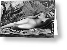 Reclining Nude, C1885 Greeting Card