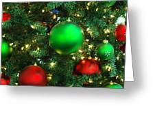 Red And Green Holiday Greeting Card