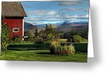 Red Barn In Newbury Vermont Greeting Card