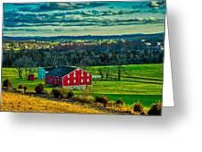 Red Barn - Pennsylvania Greeting Card