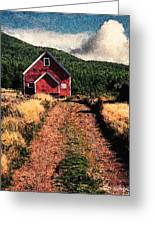 Red Barn Road Greeting Card