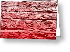 Red Brick Wall Greeting Card