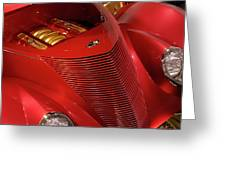 Red Classic Car Details Greeting Card by Oleksiy Maksymenko