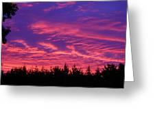 Red Clouds At Dawn Greeting Card