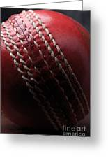 Red Cricket Ball Greeting Card