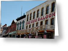 Red Dog Saloon Greeting Card