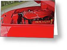 Red Engine Greeting Card