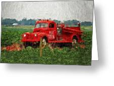 Red Fire Truck Greeting Card