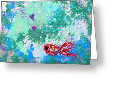 1 Red Fish Greeting Card