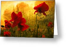 Red For Love Greeting Card