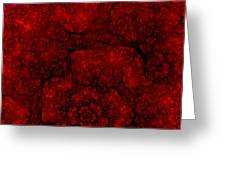 Red Fractal 051910 Greeting Card
