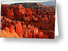 Red Glow On Hoodoos Of Bryce Canyon Greeting Card