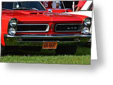 red GTO Greeting Card