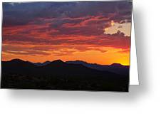 Red Hot Desert Skies  Greeting Card