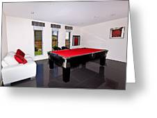 Red Pool Table Greeting Card