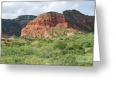 Red Rock At Caprock  Greeting Card