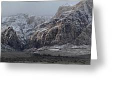 Red Rock Canyon Snow Storm Greeting Card
