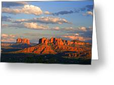 Red Rocks Sunset Greeting Card