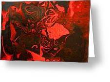 Red Series No. 2 Greeting Card
