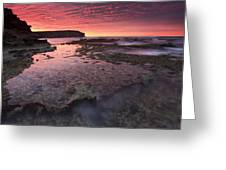 Red Sky At Morning Greeting Card