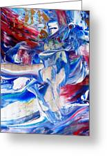 Red White And Blue Migraine Greeting Card