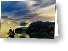Reflection Bay Greeting Card by Sandra Bauser Digital Art