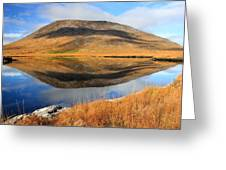 Reflection Of The Connemara Mountains In A Blue Lake Ireland Greeting Card