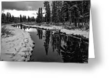 Reflections On Obsidian Creek Greeting Card