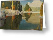 Reflective Lake Greeting Card