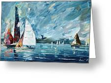 Regatta Greeting Card
