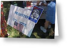 Register To Vote Bobby Kennedy Poster Sylver Short Hand Peart Park Casa Grande Arizona 2004 Greeting Card