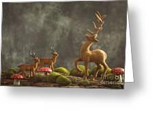 Reindeer Scene Greeting Card