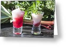 Rhubarb Semolina Pudding Greeting Card